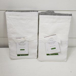 Pottery Barn Belgian flax linen Euro Shams Set 2